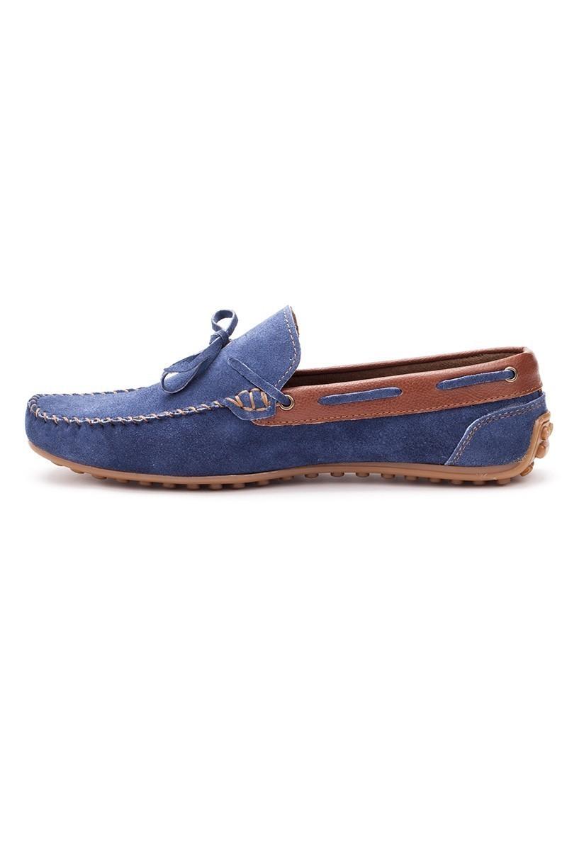 Bravelli Mavi-Taba BRVL-FR-BAG Hakiki Deri Erkek Ayakkabı