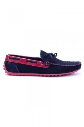 Bravelli Lacivert-Kırmızı BRVL-FR-BAG Hakiki Deri Erkek Ayakkabı