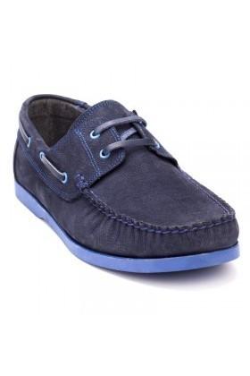 Ege Lacivert-Mavi EG-1008 Hakiki Deri Erkek Ayakkabı