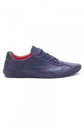 Pandew Lacivert-Kırmızı PNDW-265 Hakiki Deri Erkek Ayakkabı
