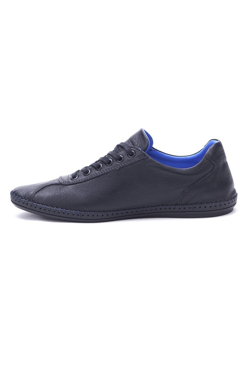 Pandew Lacivert-Beyaz PNDW-265 Hakiki Deri Erkek Ayakkabı