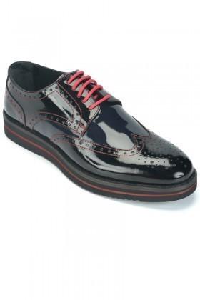 BLUESOIL Siyah BS-2002 Hakiki Deri Erkek Ayakkabı