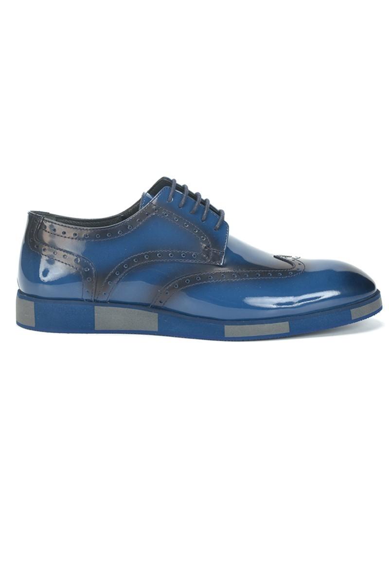 BLUESOIL Mavi BS-2000 Hakiki Deri Erkek Ayakkabı