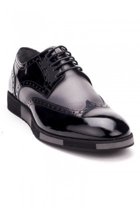 BLUESOIL Siyah-Gri BS-2000 Hakiki Deri Erkek Ayakkabı