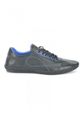 Pandew Siyah-Saks PNDW-265 Hakiki Deri Erkek Ayakkabı