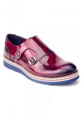 Chaos Bordo TS-1539 Hakiki Deri Erkek Ayakkabı