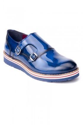 Chaos Lacivert TS-1539 Hakiki Deri Erkek Ayakkabı