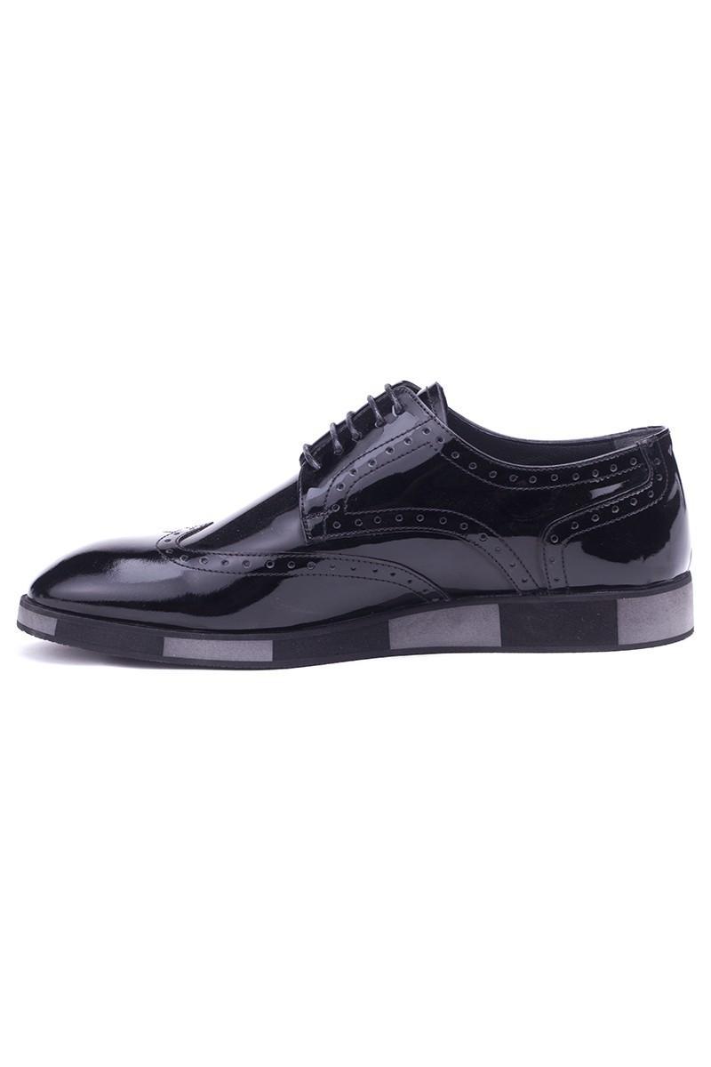 BLUESOIL Siyah BS-2000 Hakiki Deri Erkek Ayakkabı