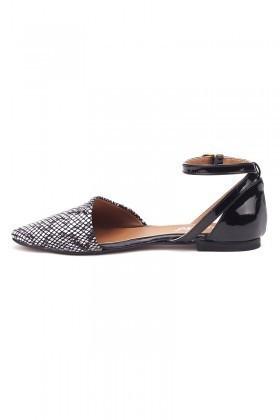 Caprito Siyah-Beyaz CPR-640-DESEN Bayan Ayakkabı