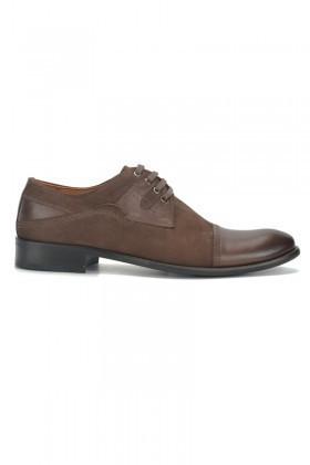 Pandew Kahverengi PNDW-060 Hakiki Deri Erkek Klasik Ayakkabı