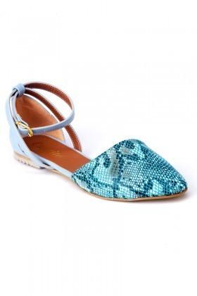 Caprito Mavi CPR-640-DESEN Bayan Ayakkabı