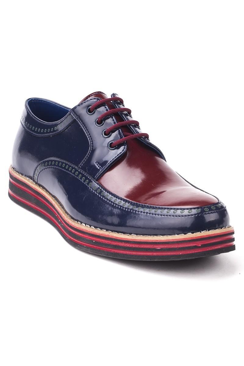 BLUESOIL Lacivert-Bordo BS-20-004 Erkek Ayakkabı