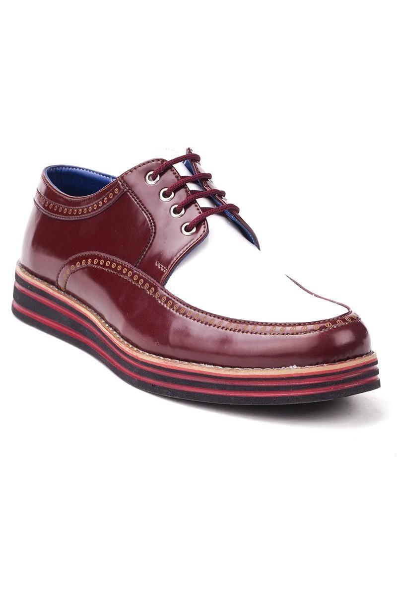 BLUESOIL Bordo-Beyaz BS-20-003 Erkek Ayakkabı
