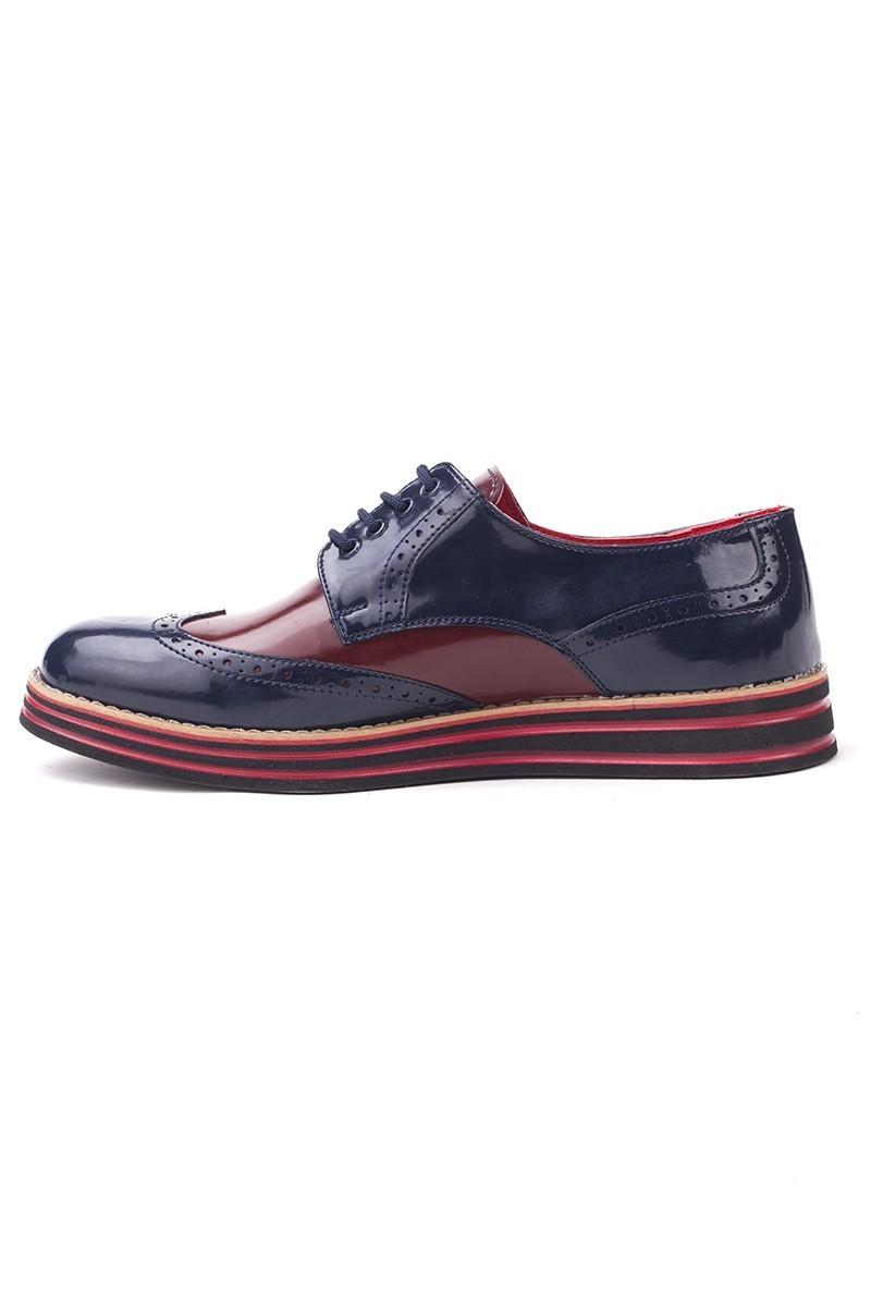 BLUESOIL Lacivert-Bordo BS-20-001 Erkek Ayakkabı