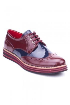 BLUESOIL Bordo-Lacivert BS-20-001 Erkek Ayakkabı