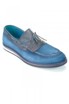 Pandew Lacivert PNDW-146 Hakiki Deri Erkek Ayakkabı