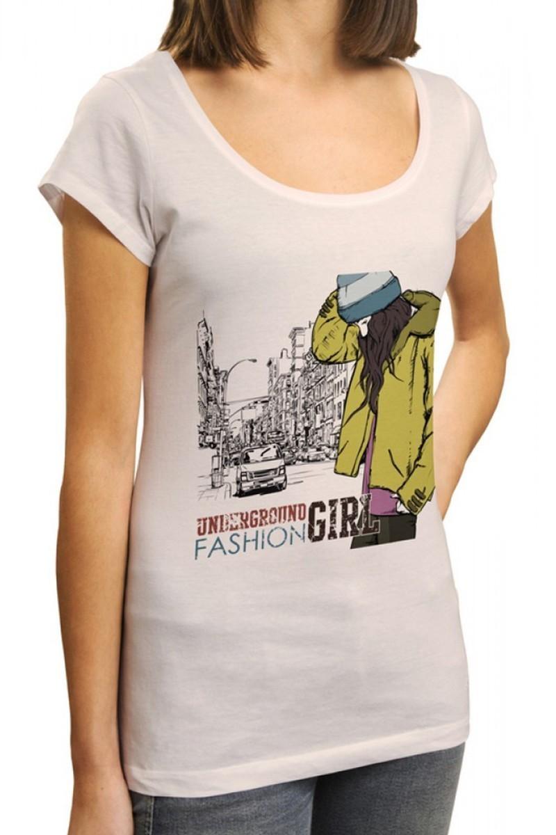 Benekli Fil Beyaz BF-BR016 Underground Fashion Baskılı Tişört