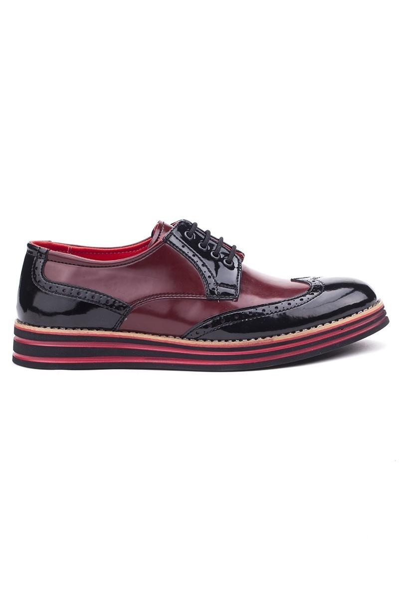 BLUESOIL Siyah-Bordo BS-20-007 Erkek Ayakkabı