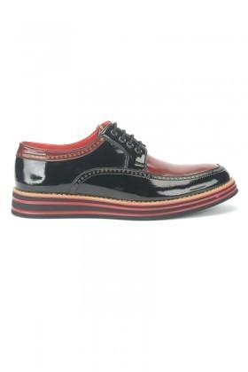 BLUESOIL Siyah-Bordo BS-20-004 Erkek Ayakkabı