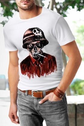 Benekli Fil Beyaz BF-E018 Erkek Tişört