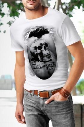 Benekli Fil Beyaz BF-E032 Erkek Tişört