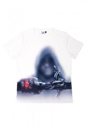 BLUESOIL Beyaz BS-08-06 3D Erkek Tişört