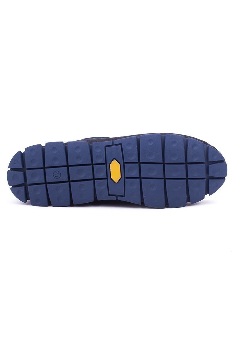 Pandew Siyah-Mavi PNDW-799 Hakiki Deri Erkek Ayakkabı