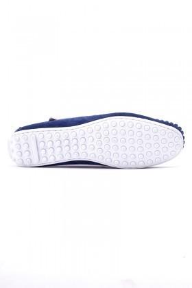 BLUESOIL Lacivert-Beyaz BS-2525 Hakiki Deri Erkek Ayakkabı
