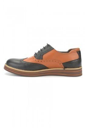 BLUESOIL Taba-Siyah BS-20-001-DERI Erkek Ayakkabı