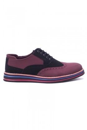 BLUESOIL Bordo-Siyah BS-20-001-NBK Erkek Ayakkabı