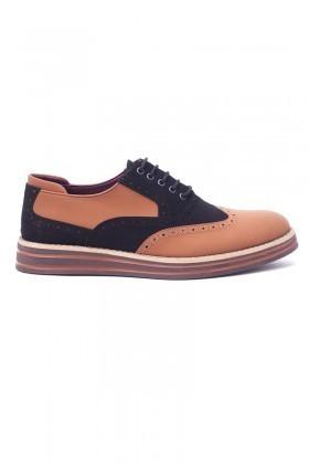 BLUESOIL Taba-Siyah BS-20-001-NBK Erkek Ayakkabı