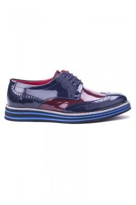 BLUESOIL Lacivert-Bordo BS-20-013 Erkek Ayakkabı