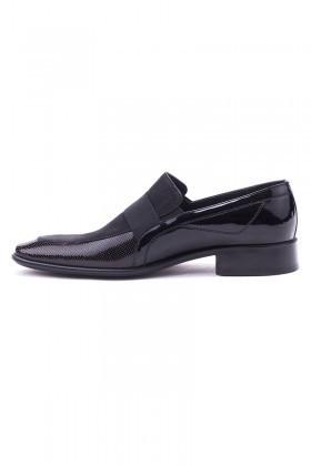 Ali Karaca Siyah AK-2000 Hakiki Deri Erkek Klasik Ayakkabı