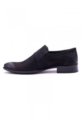 Ali Karaca Siyah AK-1900 Hakiki Deri Erkek Klasik Ayakkabı