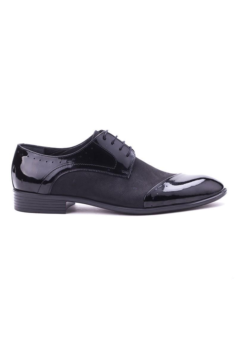 Ali Karaca Siyah AK-1500 Hakiki Deri Erkek Klasik Ayakkabı