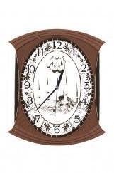Ahşap Görünümlü Camii Duvar Saati