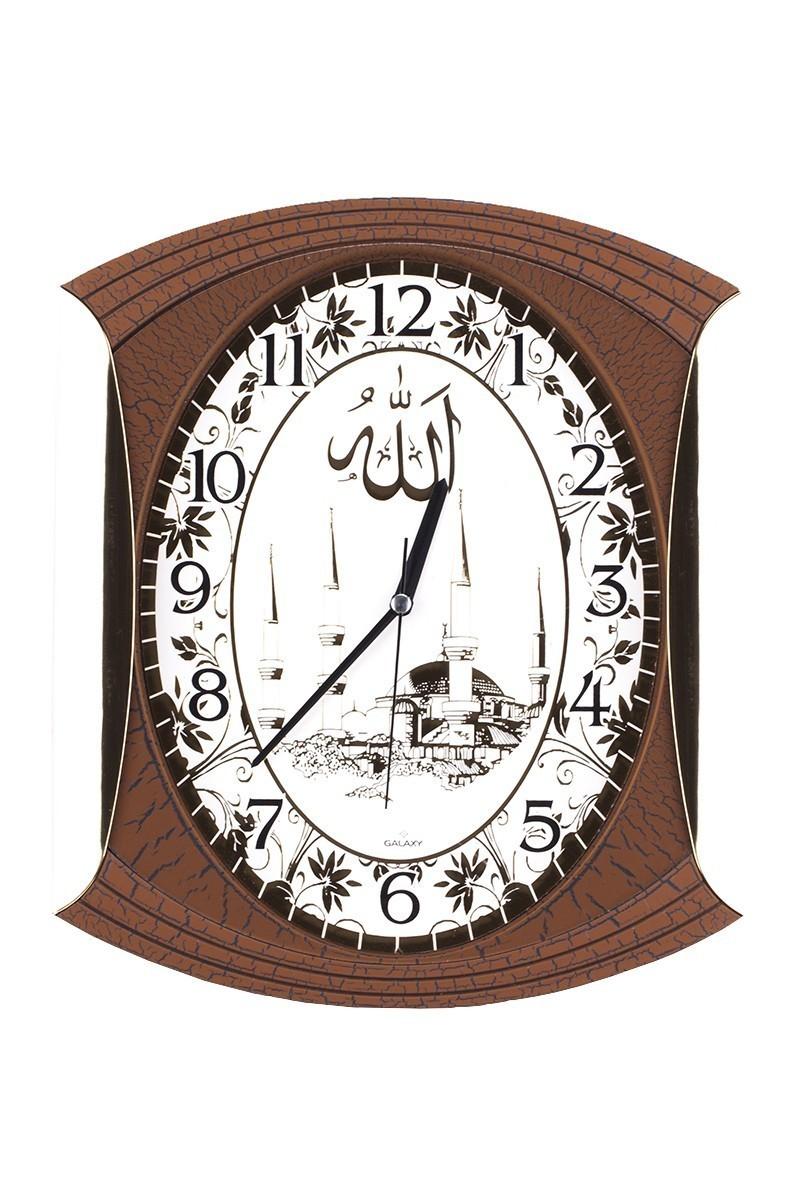 Aypaş Kahverengi AP-839-58 Ahşap Görünümlü Camii Duvar Saati