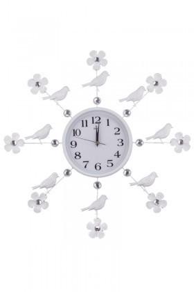 Aypaş Beyaz AP-502-20 Kuş Süslemeli Duvar Saati