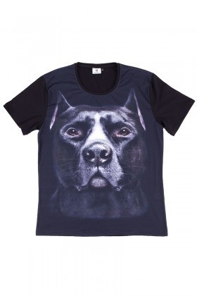 BLUESOIL Siyah BS-08-17 3D Erkek Tişört