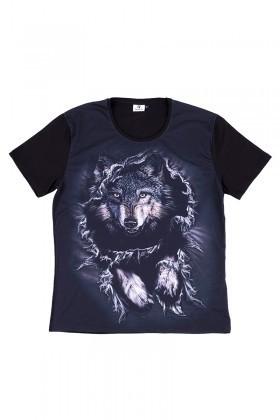 BLUESOIL Siyah BS-08-22 3D Erkek Tişört