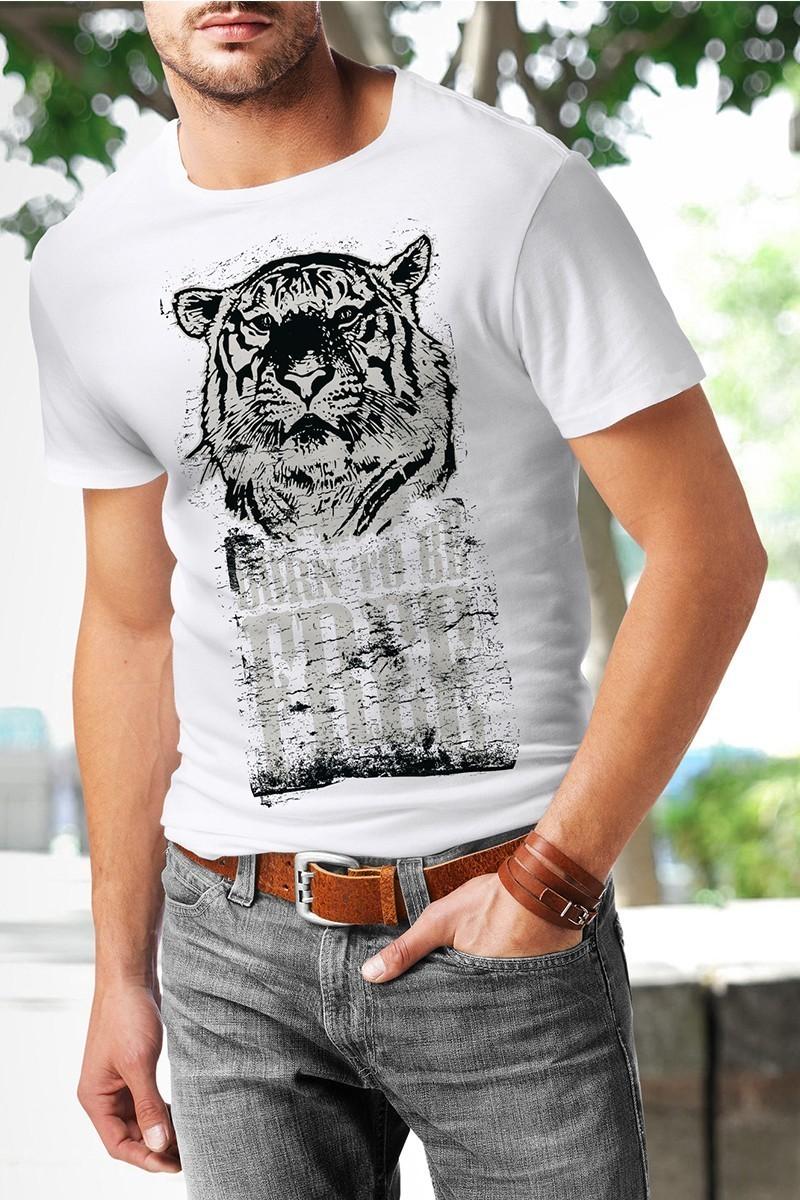 Benekli Fil Beyaz BF-E006 Erkek Tişört