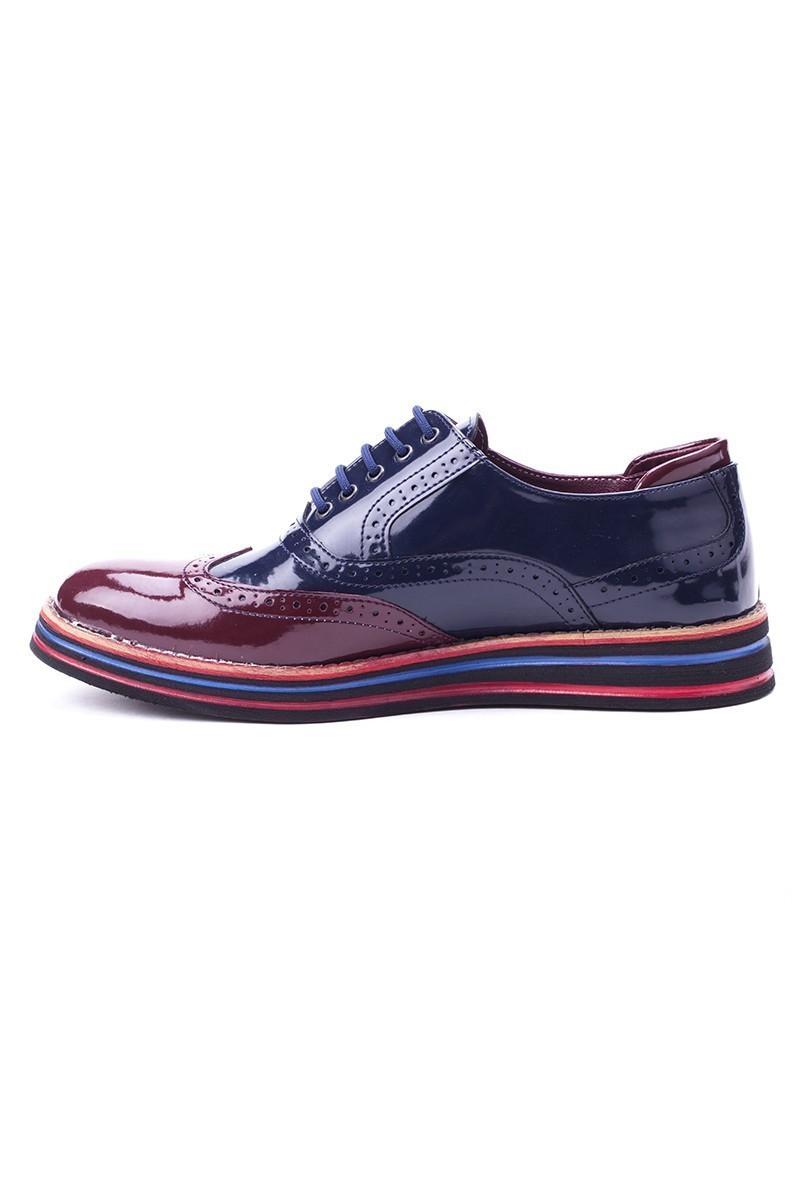 BLUESOIL Lacivert-Bordo BS-20-014 Erkek Ayakkabı