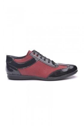Polomen Siyah-Bordo PLM-1080 Erkek Ayakkabı