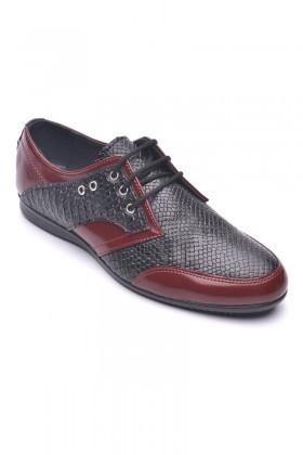 Polomen Siyah-Bordo PLM-1071 Erkek Ayakkabı