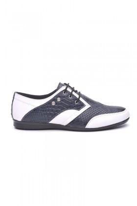 Polomen Beyaz-Lacivert PLM-1071 Erkek Ayakkabı