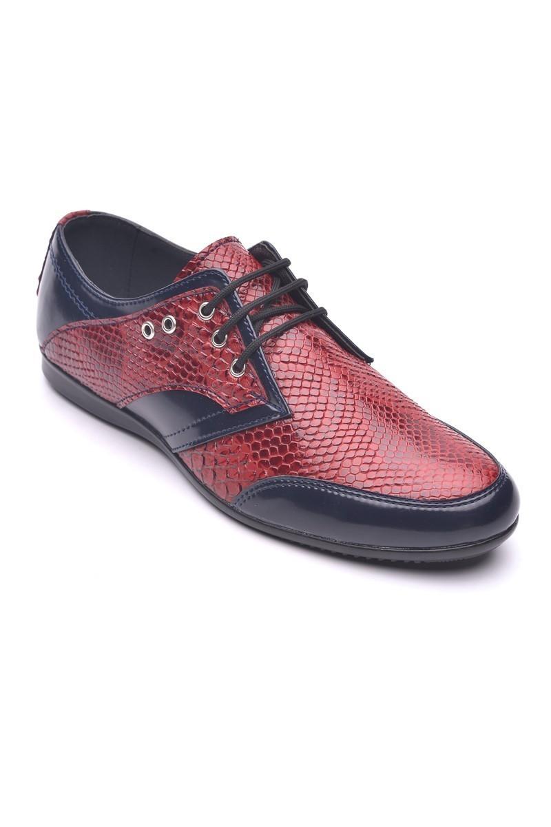 Polomen Bordo-Lacivert PLM-1071 Erkek Ayakkabı