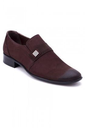 Ali Karaca Kahverengi AK-1900 Hakiki Deri Erkek Klasik Ayakkabı