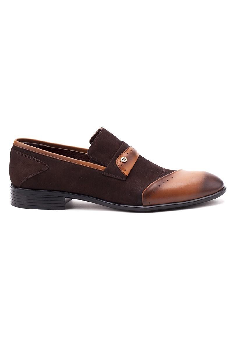 Ali Karaca Kahverengi AK-2100 Hakiki Deri Erkek Klasik Ayakkabı