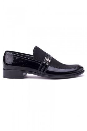 Ali Karaca Siyah AK-2400 Hakiki Deri Erkek Klasik Ayakkabı