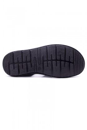Cotaro Siyah CTR-600 Hakiki Deri Erkek Sandalet